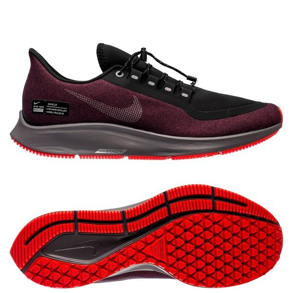 chercher 083ce 2846c Nike Running Shoe Air Zoom Pegasus 35 Shield - Black/Metallic Silver/Night  Maroon
