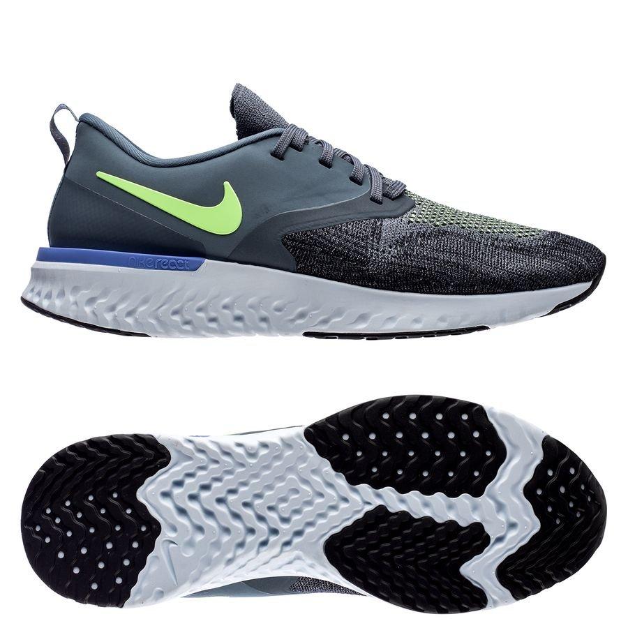 Nike Odyssey React 2 Flyknit - Blå/Grøn/Sort fra På Lager thumbnail