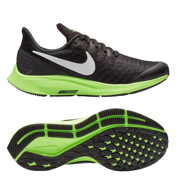 pretty nice bce2a dbe49 Nike Running Shoe Air Zoom Pegasus 35 - Black/White/Lime Green Kids