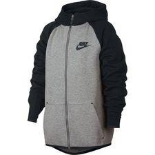 589cbf318e1 Nike Hoodie Tech Fleece Essentials FZ - Dark Grey Heather/Black Kids