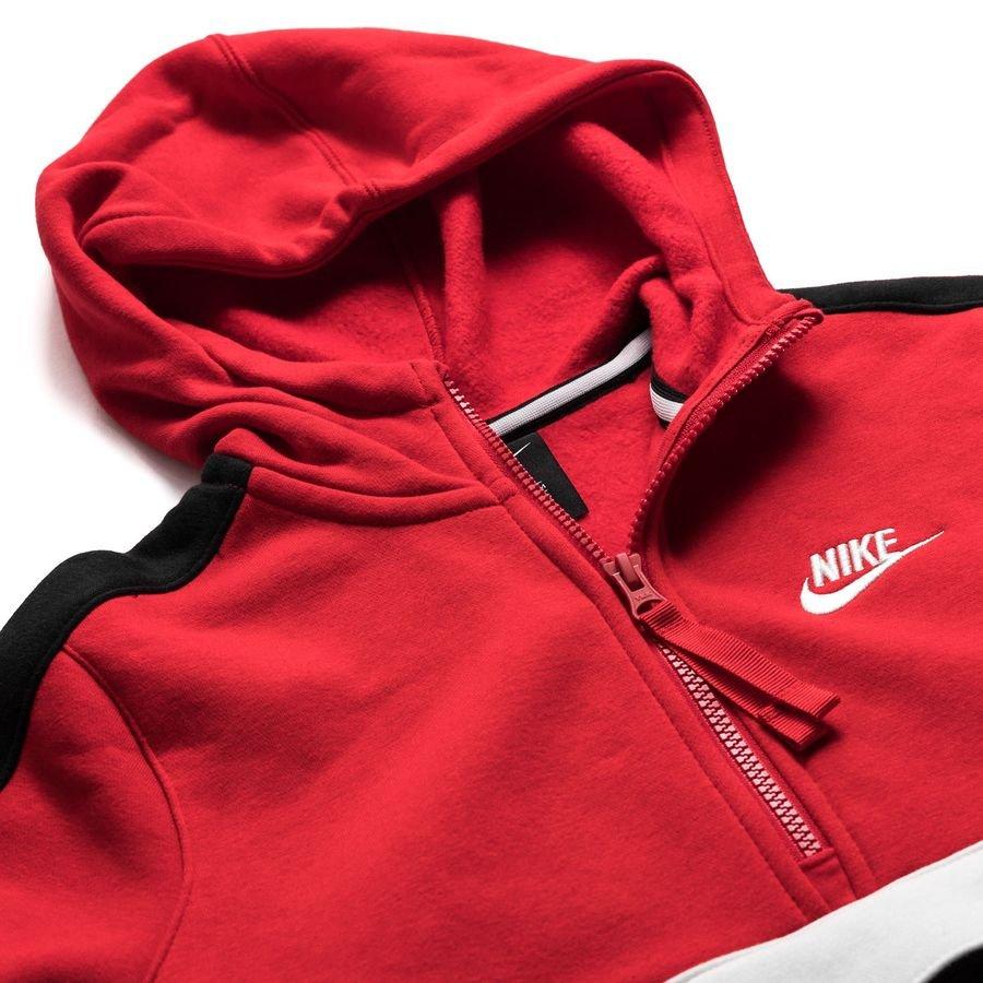 Nike Hættetrøje NSW Air HZ RødSortHvid Børn
