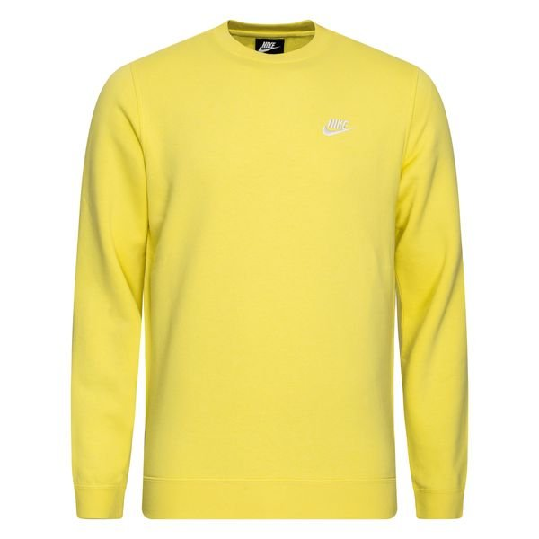 Nike Sweat,Shirt NSW Crew Fleece , Jaune/Blanc