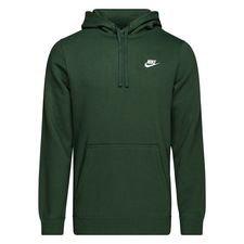 nike hættetrøje nsw fleece - grøn/hvid - hættetrøjer