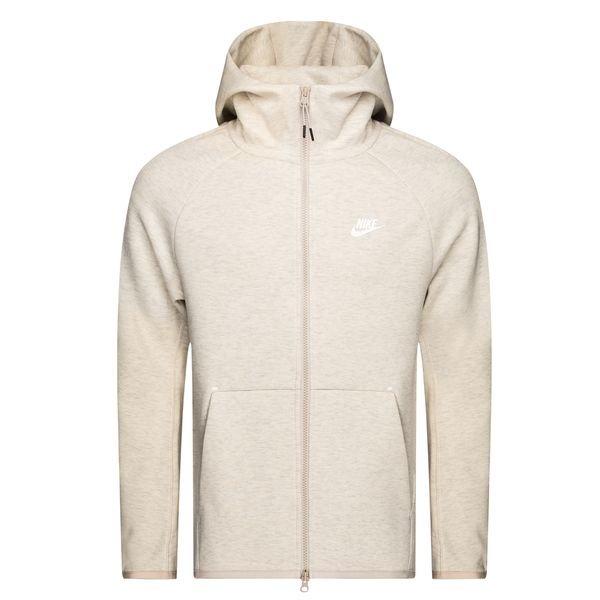 best service 99488 63024 Nike Hoodie FZ NSW Tech Fleece - Oatmeal/White