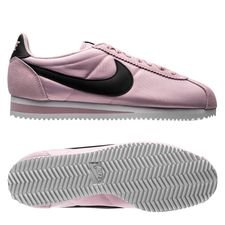 nike classic cortez nylon - rose/noir/blanc femme - sneakers