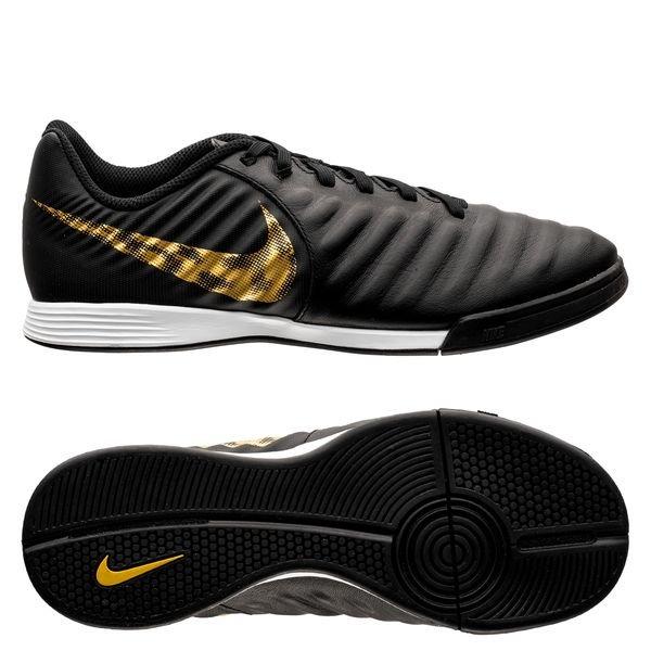 promo code 1f1db 2537a Nike Tiempo Legend 7 Academy IC Black Lux - Black/Metallic Vivid Gold Kids