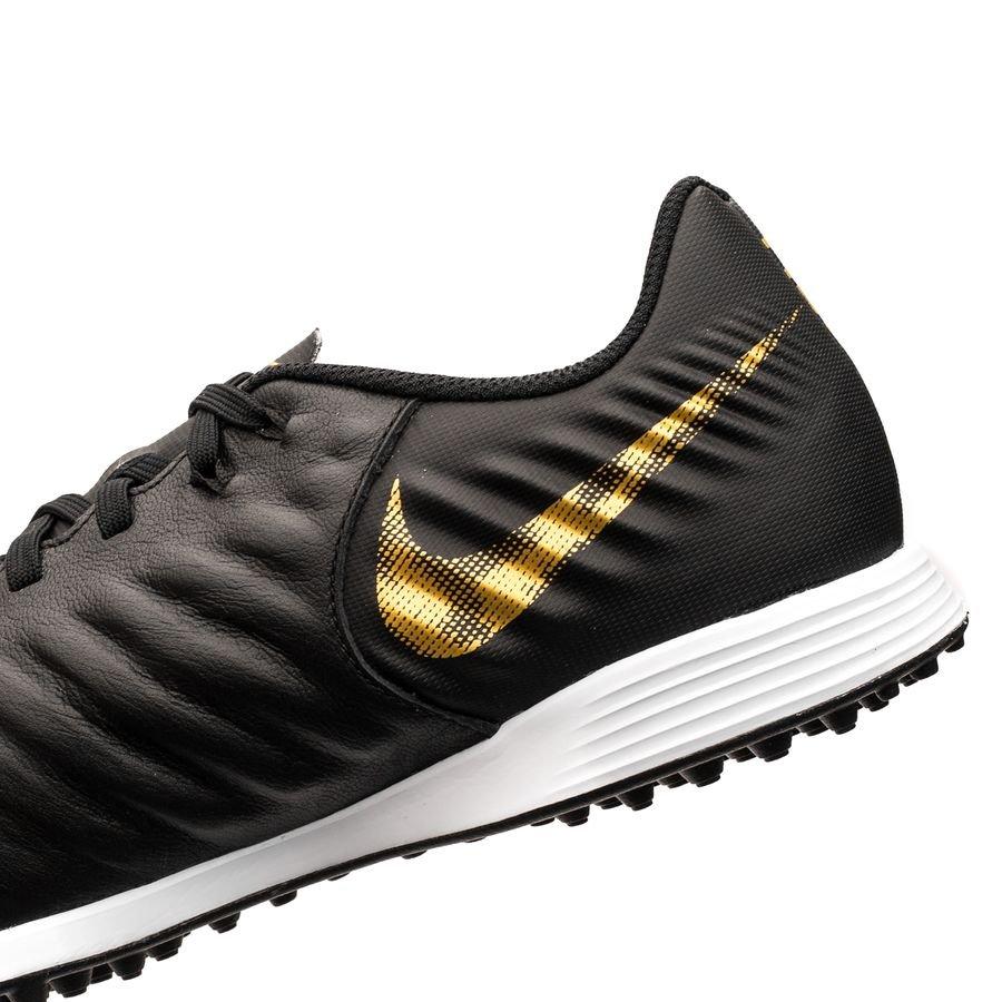 Nike Tiempo Legend 7 Academy TF Black Lux SortGull Barn