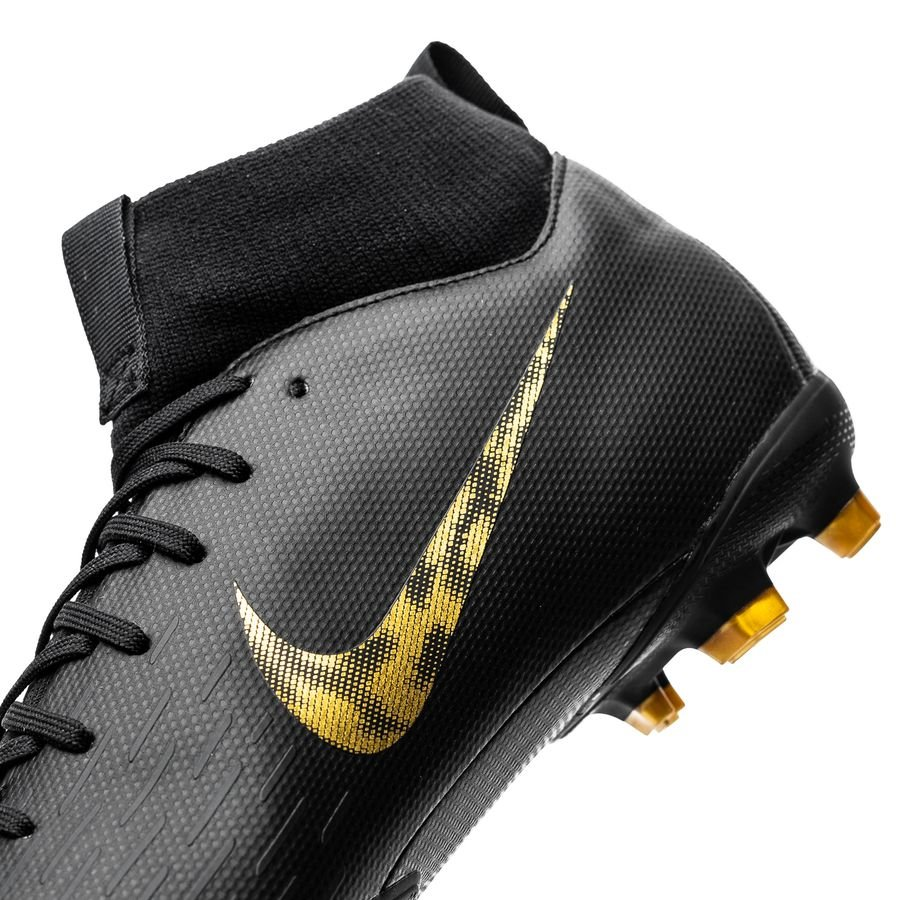 Nike Mercurial Superfly 6 Academy MG Black Lux BlackMetallic Vivid Gold
