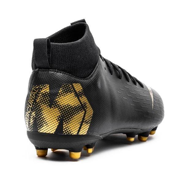 online store edc8f 467a4 ... nike mercurial superfly 6 academy mg black lux - noirdoré enfant -  chaussures de ...