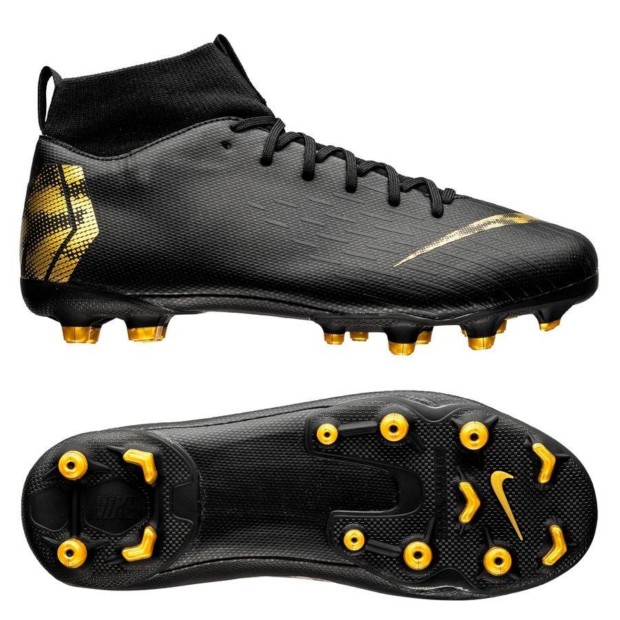 release date 6ce17 fcd56 nike mercurial superfly 6 academy mg black lux - noirdoré enfant -  chaussures de ...