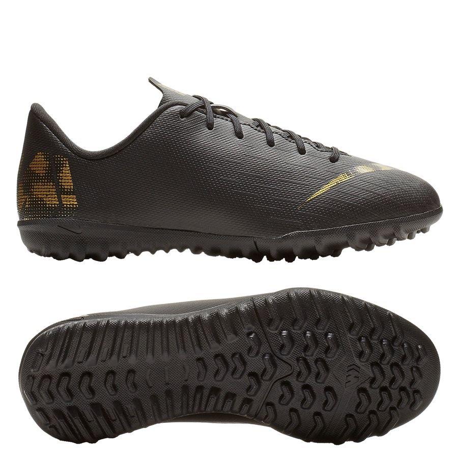 nike mercurial vapor 12 academy tf black lux - svart guld barn  förbeställning - fotbollsskor ... 3f0fe84514c63