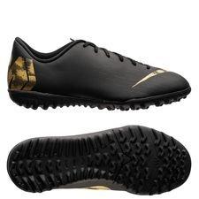 Nike Mercurial Vapor 12 Academy TF Black Lux - Zwart/Goud Kinderen