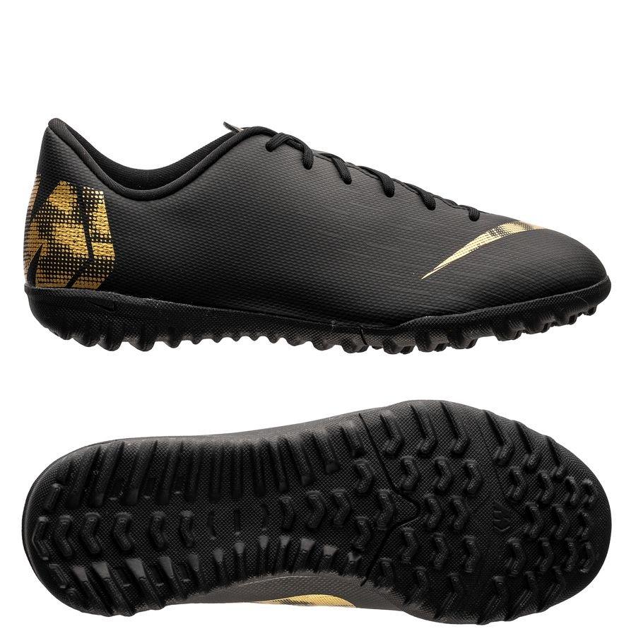 Nike Mercurial Vapor 12 Academy TF Black Lux – Sort/Guld Børn