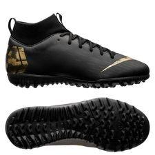 Nike Mercurial Superfly 6 Academy TF Black Lux - Zwart/Goud Kinderen