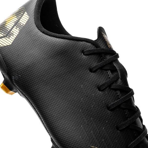 brand new 82116 9f86c ... nike mercurial vapor 12 academy mg black lux - zwartgoud kinderen -  voetbalschoenen ...
