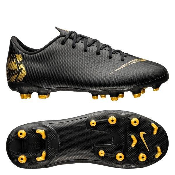 944dcf3f50c Nike Mercurial Vapor 12 Academy MG Black Lux - Zwart/Goud Kinderen ...