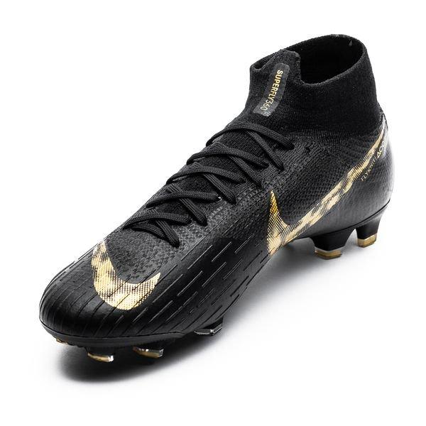 4a7e42f865c Nike Mercurial Superfly 6 Elite FG Black Lux - Zwart/Goud | www ...