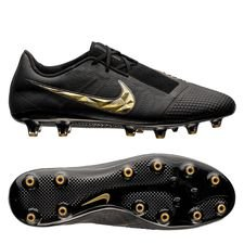 nike phantom venom elite ag-pro black lux - sort/gull - fotballsko