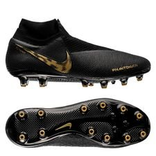 nike phantom vision elite df ag-pro black lux - sort/gull - fotballsko