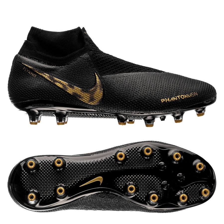 Nike Phantom Vision Elite DF AG-PRO - Sort/Guld