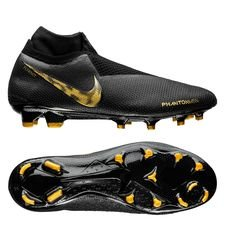 Nike Phantom Vision Elite DF FG Black Lux - Sort/Guld