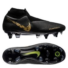 Nike Phantom Vision Elite DF SG-PRO - Sort/Guld