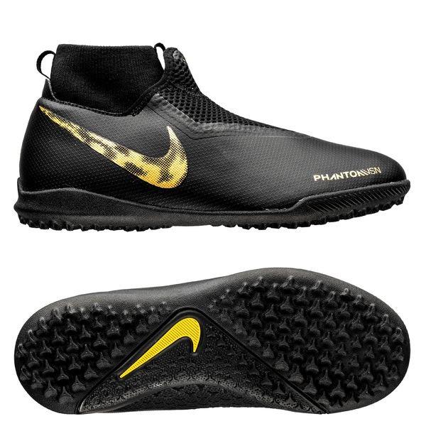 new style df1d8 4e450 Nike Phantom Vision Academy DF TF Black Lux - Sort/Gull Barn | www ...
