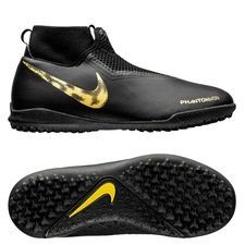 Nike Phantom Vision Academy DF TF Black Lux - Zwart/Goud Kinderen