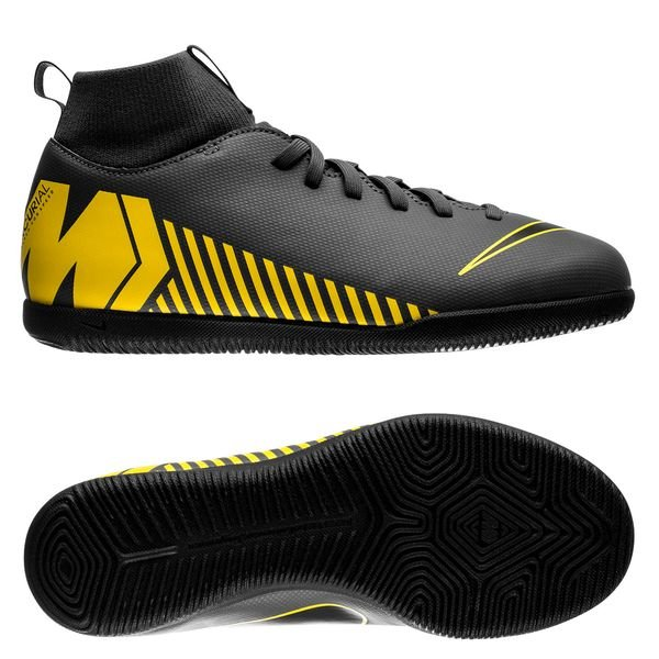 hot sales closer at more photos Nike Mercurial Superfly 6 Club IC Game Over - Dark Grey/Yellow Kids