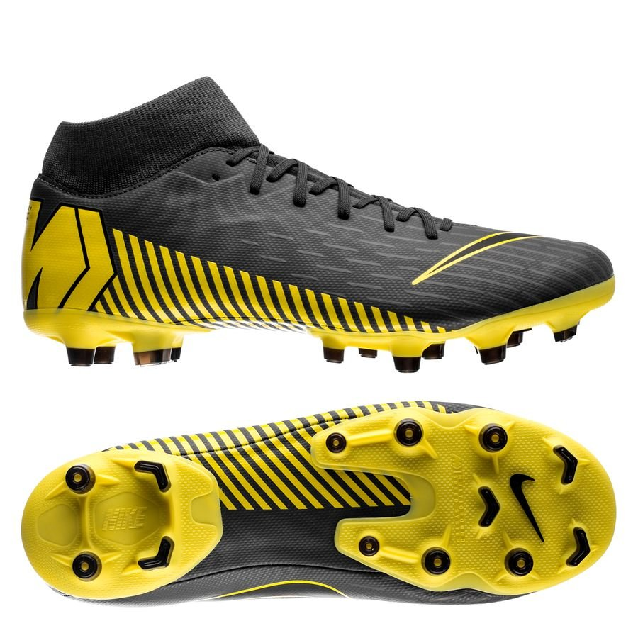 5c8ef1a1080 Nike Mercurial Superfly 6 Academy MG Game Over - Dark Grey Yellow ...