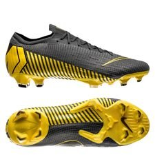 Nike Mercurial Vapor 12 Elite FG Game Over - Gris foncé/Jaune