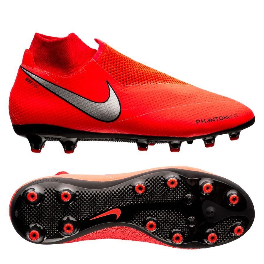 Nike Phantom Vision Pro DF AG-PRO - Rød/Sølv