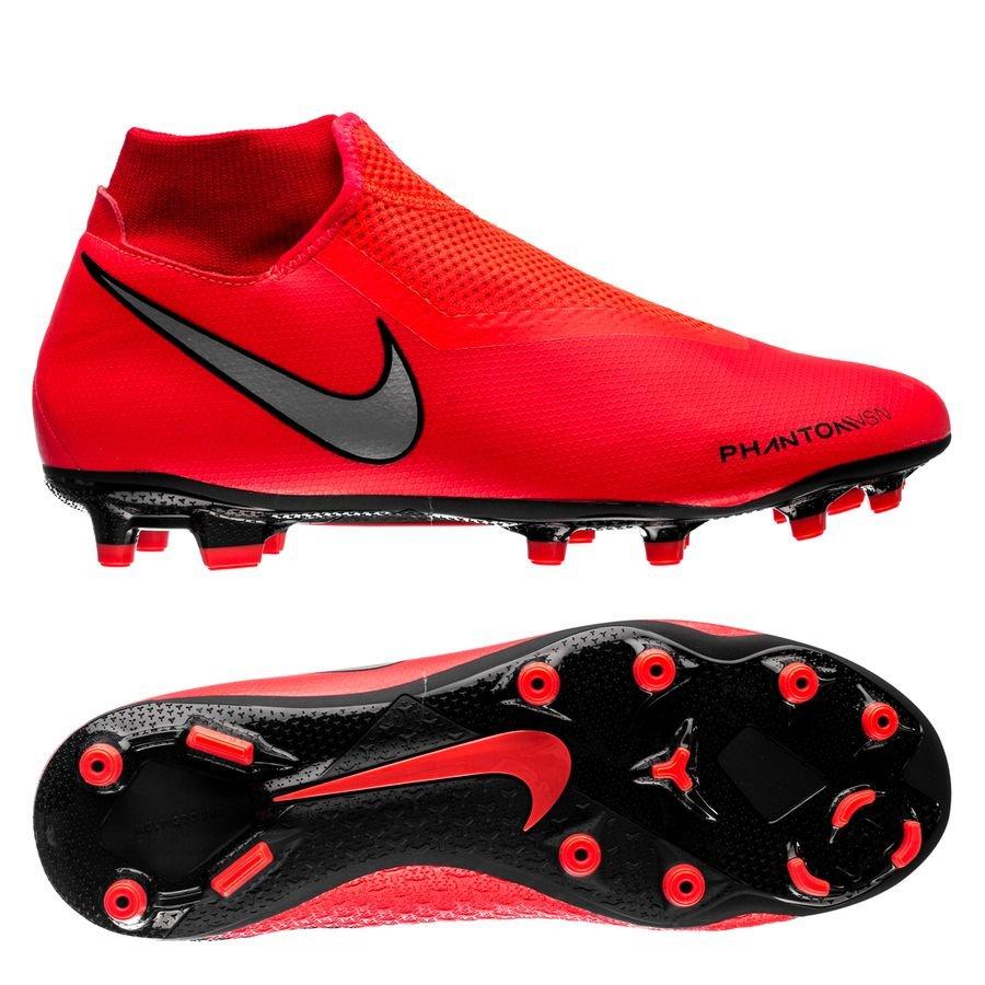 Nike Phantom Vision Academy DF MG - Rød/Sølv