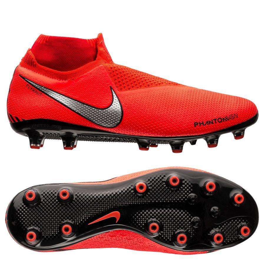 Nike Phantom Vision Elite DF AG-PRO - Rød/Sølv
