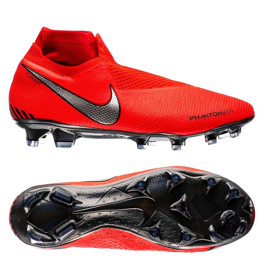 e9387676b8c734 Nike Phantom Vision Elite DF FG Game Over - Bright Crimson Metallic Silver
