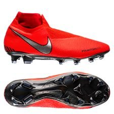 Nike Phantom Vision Elite DF FG Game Over - Rouge/Argenté
