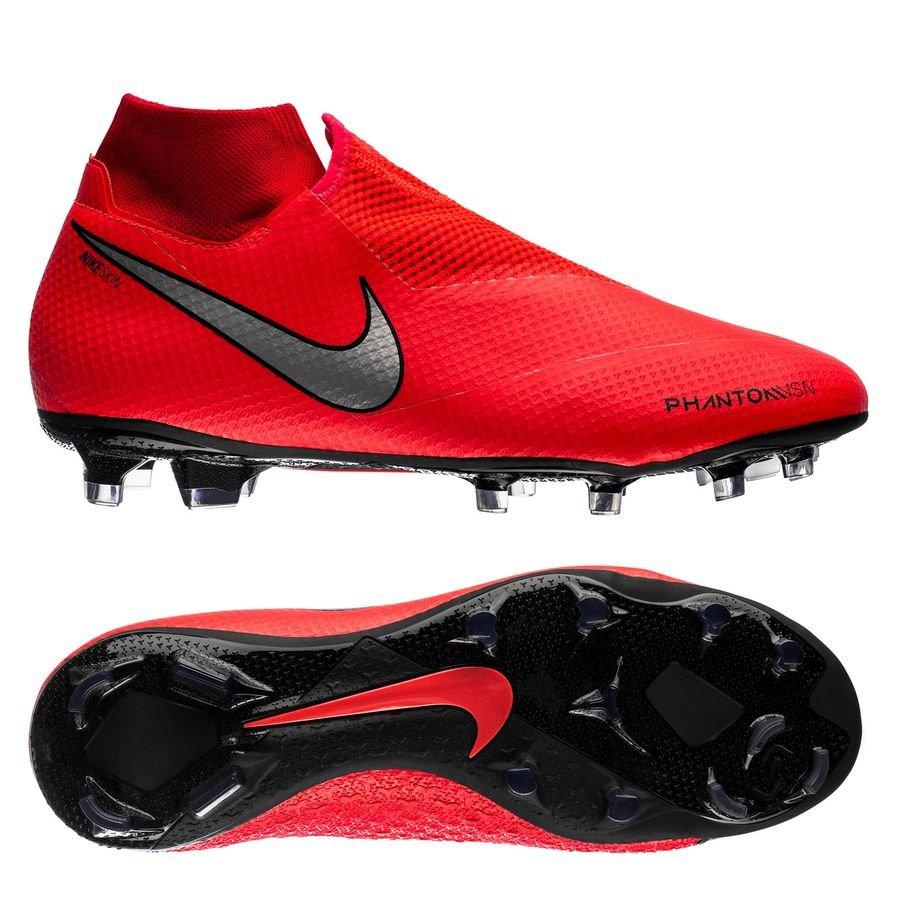 Nike Phantom Vision Pro DF FG - Rød/Sølv