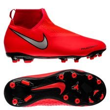 Nike Phantom Vision Academy DF MG Game Over - Rood/Zilver Kinderen