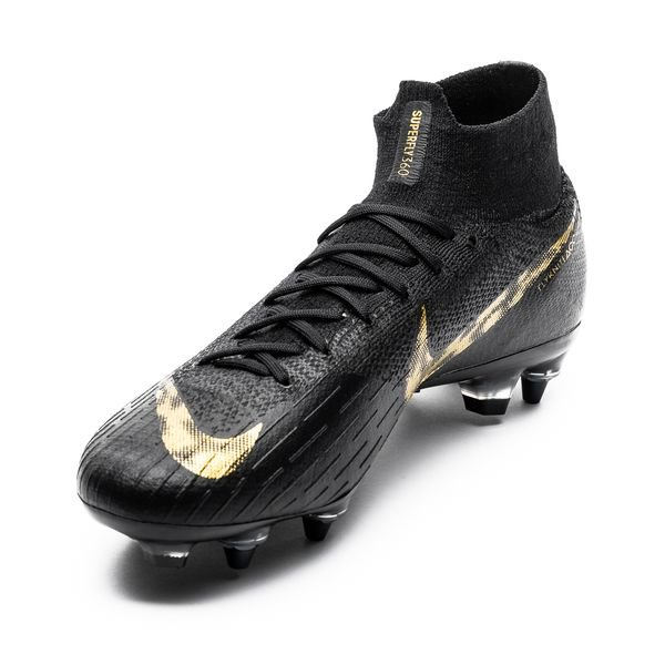 buy popular 69d40 b7222 Nike Mercurial Superfly 6 Elite SG-PRO Anti-Clog Black Lux - Black/Metallic  Vivid Gold