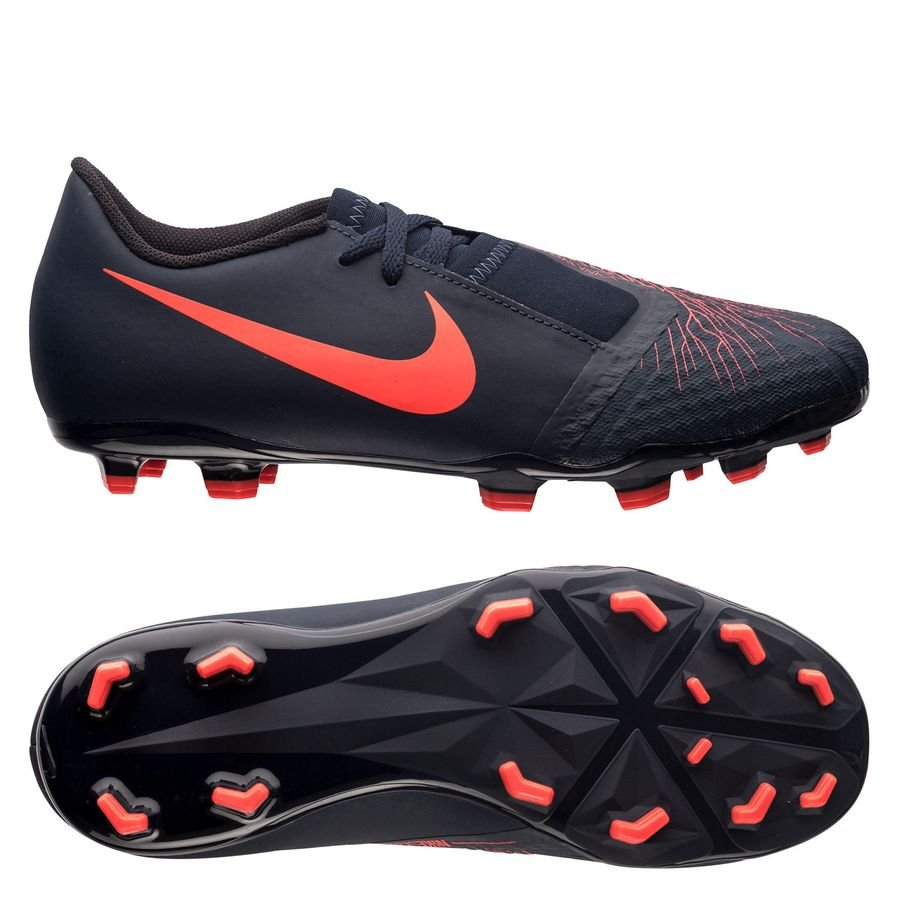 san francisco f26e2 a344a nike phantom venom academy fg fully charged - navyzwart kinderen -  voetbalschoenen ...