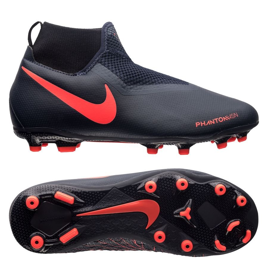 63eadc3361b4 nike phantom vision academy df mg fully charged - obsidian bright crimson  kids - football ...