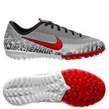 Nike Mercurial Vapor 12 Academy TF NJR Silêncio - Vit/Röd/Svart Barn