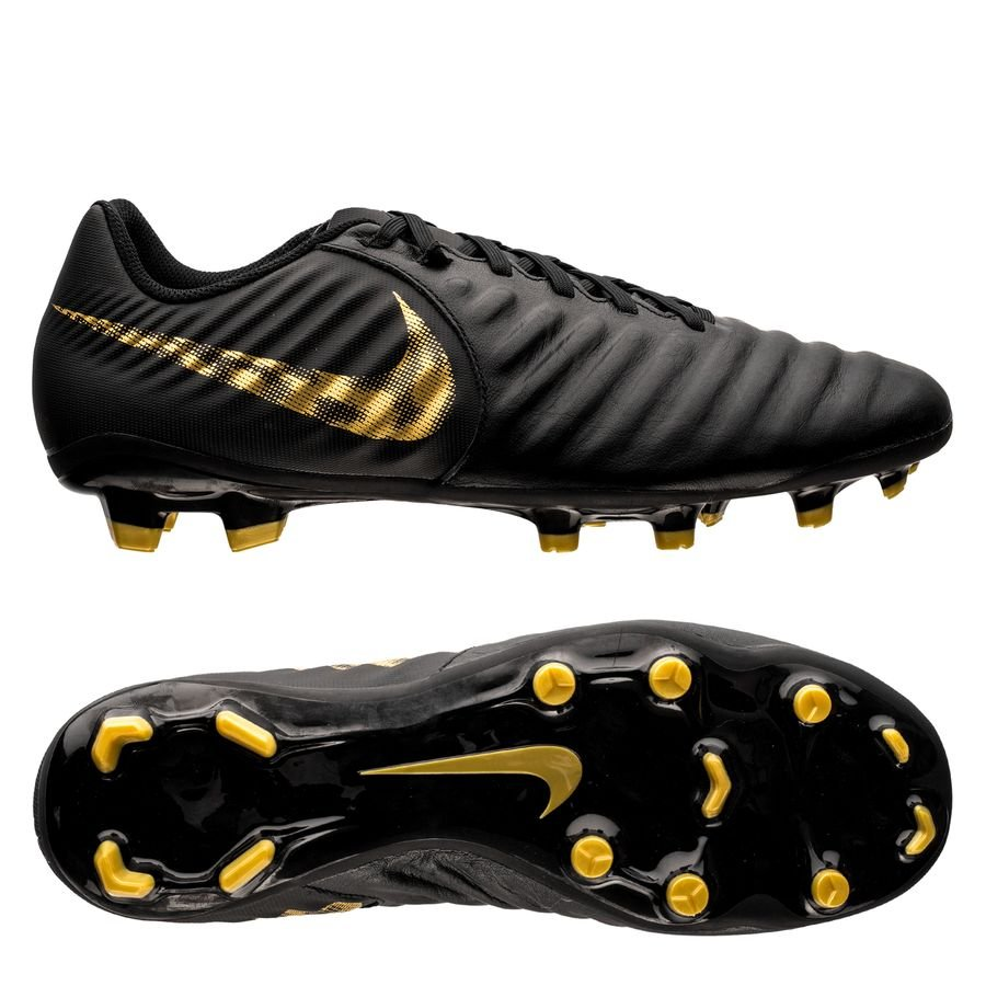 nike tiempo legend 7 academy fg black lux - black metallic vivid gold -  football ... 8d40eeb21