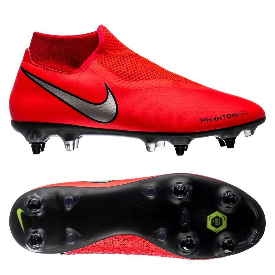 Nike Phantom Vision Academy DF SG-PRO - Rød/Sølv