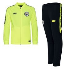 Manchester City Trainingspak Dry Squad Knit - Neon/Navy Kinderen