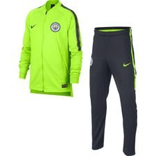 Manchester City Trainingspak Dry Squad Knit - Neon/Navy Kinderen