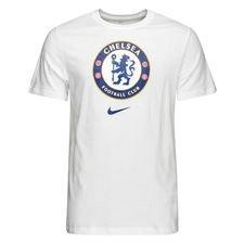 Chelsea T-Shirt Crest - Vit/Blå