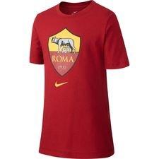 Roma T-Shirt Crest - Röd/Gul Barn