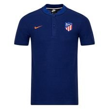 Atletico Madrid Piké Authentic Grand Slam - Navy/Röd