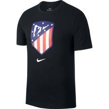 Atletico Madrid T-Shirt Crest - Svart/Röd/Blå